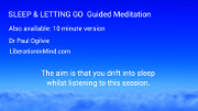Sleep and letting go guided meditation